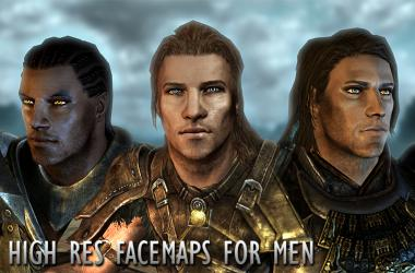 High Res Face Maps for Men
