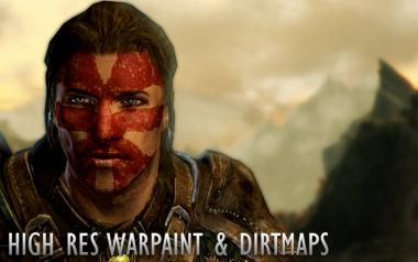 High Res Warpaint and Dirtmaps for Men