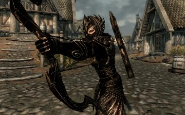 Black and Gold Elven Equipment